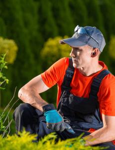 gardener with tws