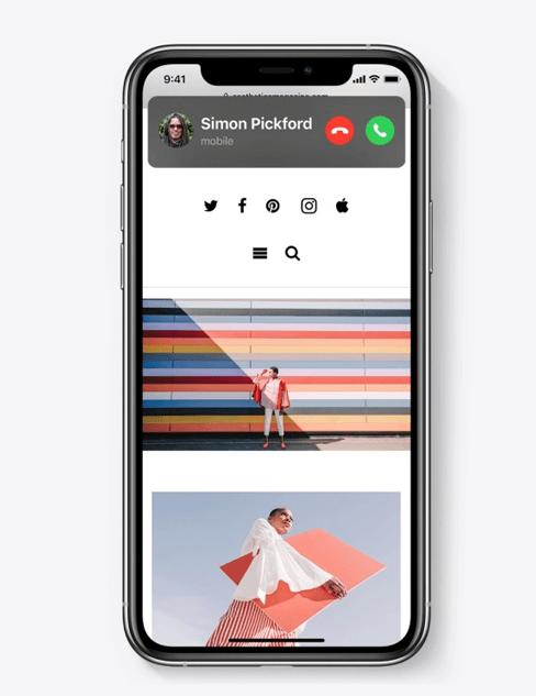 iOS 14 compact phone call design