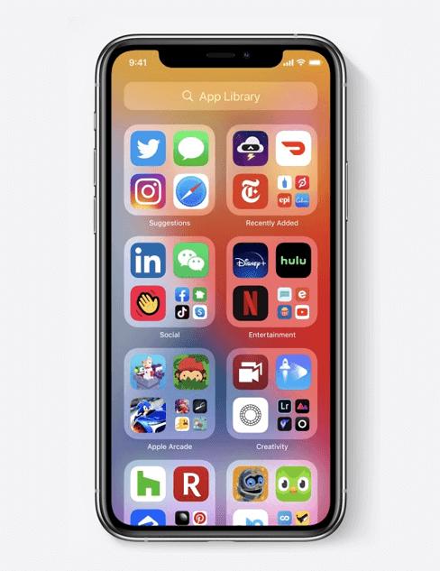 iOS14 APP Library