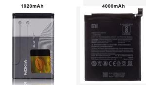 Smartphone battery capacity benchmark has increased by 3-4 times over the past decade