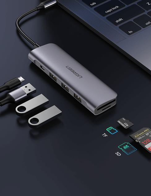 USB-C Hub SD TF Card