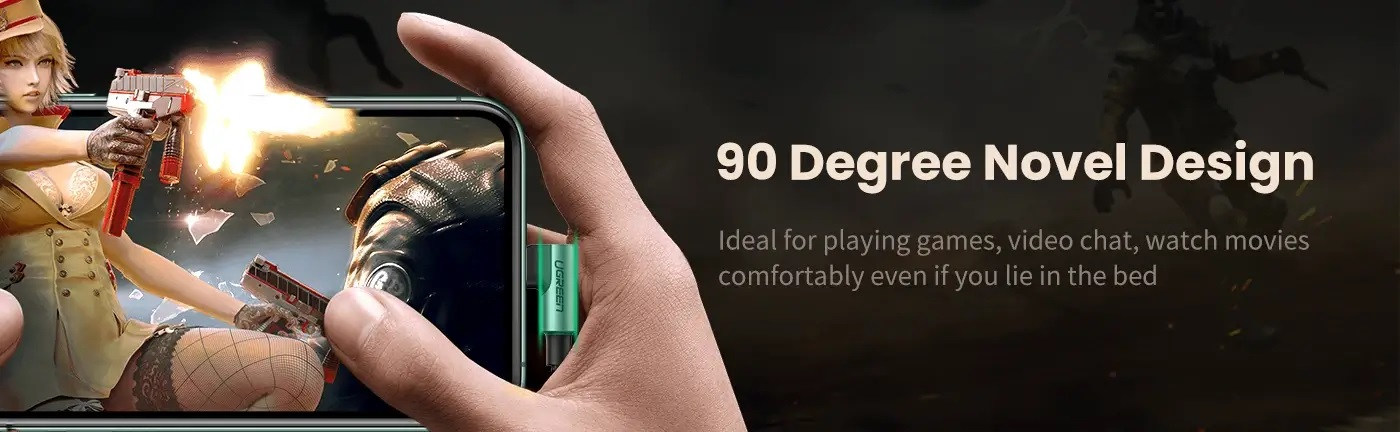 90 degree charging cables