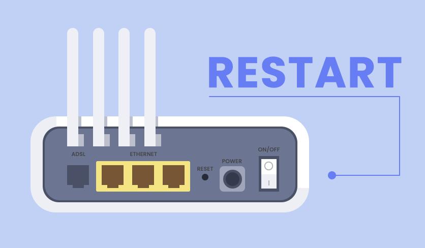 Restart WiFi router