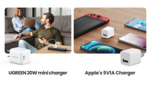 apple charger vs ugreen 20w charger